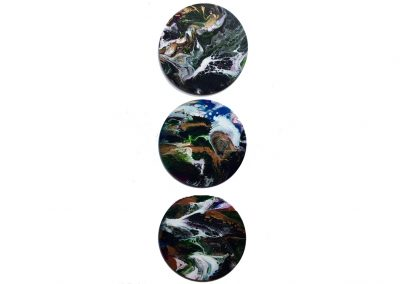 "Marble 12"" triptych"