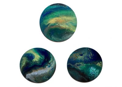 Blue Planet Triptych 12""