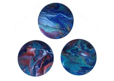 A Little Blue triptych of 1, 2 & 3