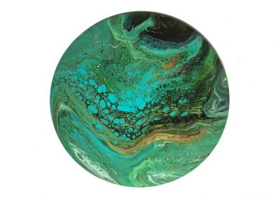 """Green, teal & gold 1  12"""""""