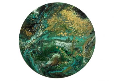 Green & Gold Bubbles  16""