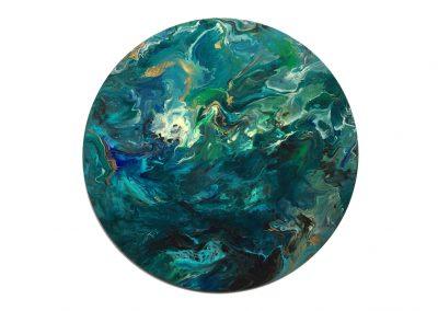 """Blue & Green Sorta Flora  18"""""""