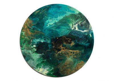 """Blue & Green Sorta Flora 16"""""""