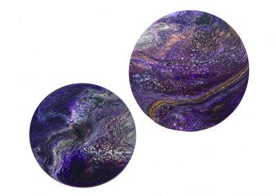 Purple Planets diptych 16/18