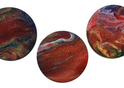 "Orange Planet triptych 12"""
